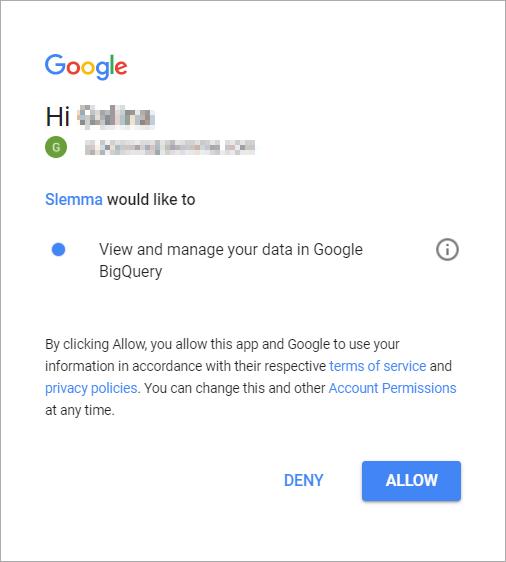 Google BigQuery - Slemma